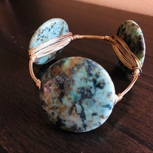 Green Bourbon and Bowties bangle